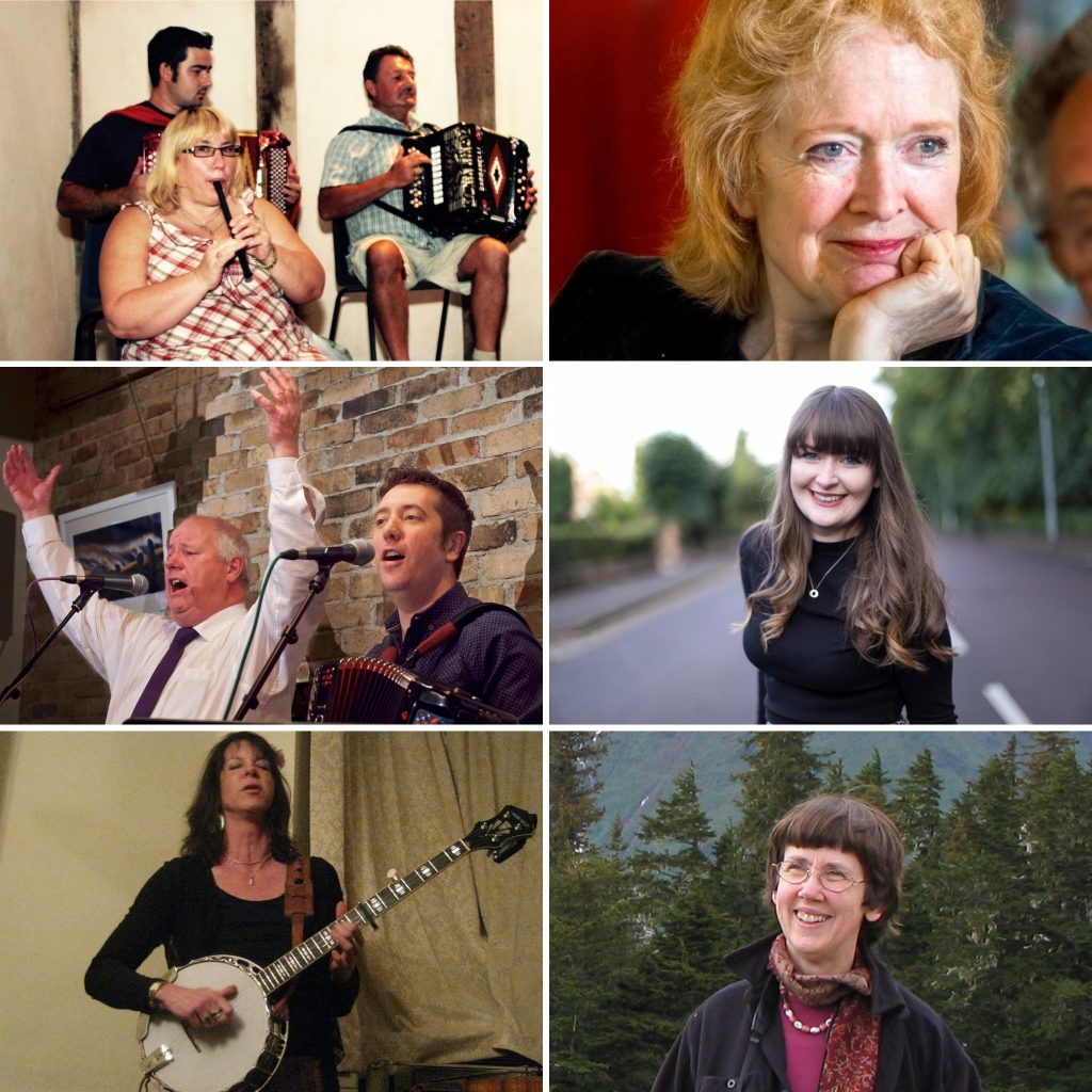 Clockwise from top left: The Orchard Family, Marianne McAleer, Josie Duncan, Judy Cook, Kate Lissauer, Jim Causley & Bill Murray
